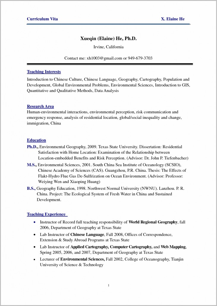 Resume Template For Nursing Position
