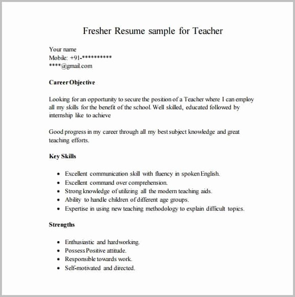 Sap Fico Fresher Resume Sample Pdf