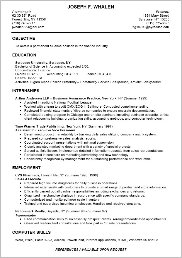 Word Template For Resume 2015