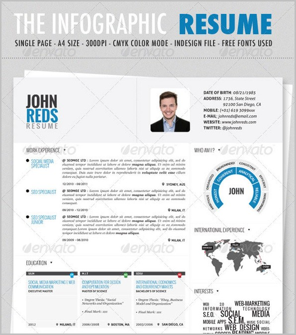 Word Template Infographic Resume
