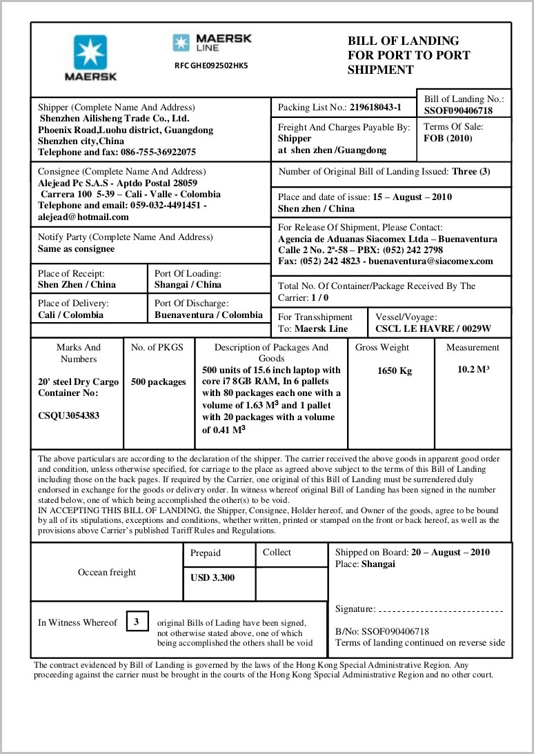bill-of-lading-form-explanation Job Application Form Example Answers on institutions for, letter summer, bad filled out,
