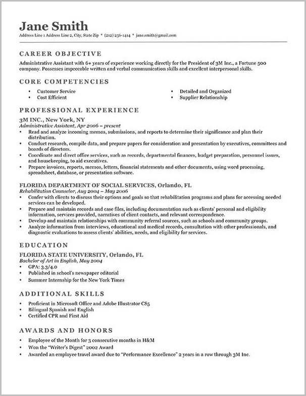Nice Professional Resume Template