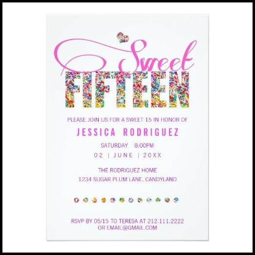 15th Birthday Invitation Templates Free