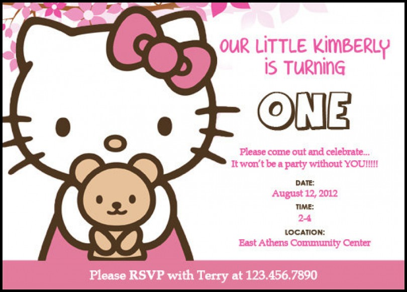 Birthday Invitation Templates Hello Kitty