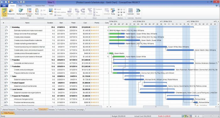 Gantt Chart Template For Software Development