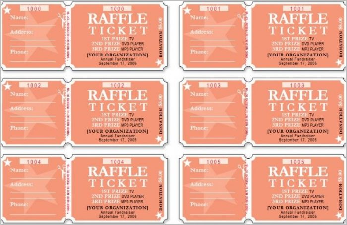Gun Raffle Ticket Template