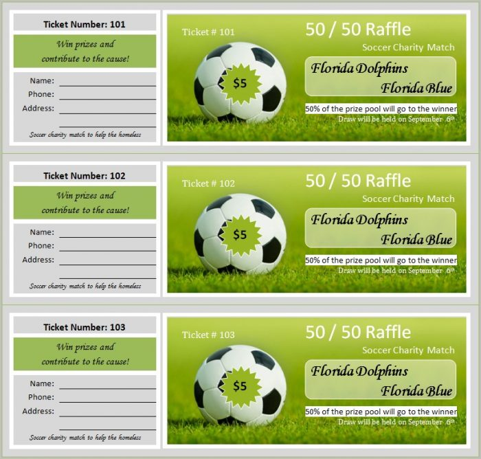 Raffle Ticket Template Free Printable