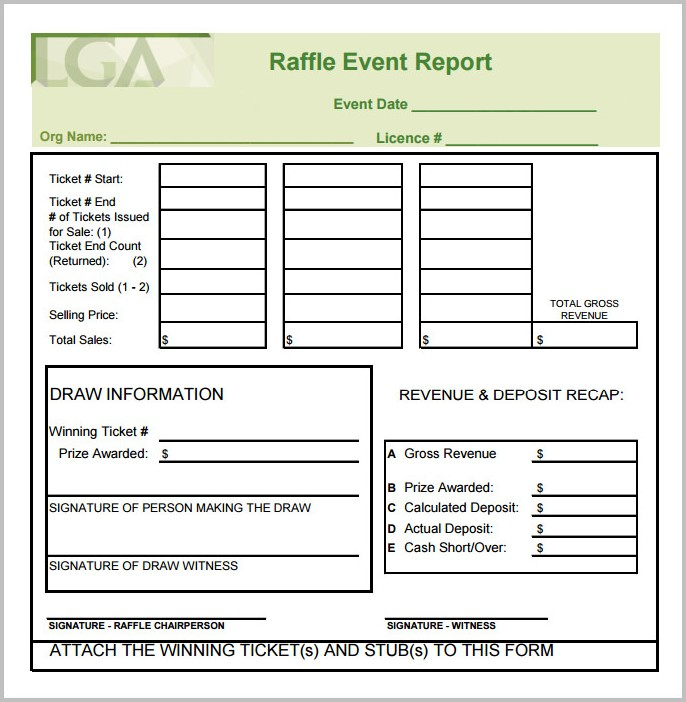 Raffle Ticket Template Pdf