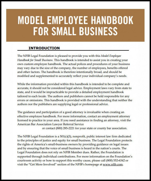 Employee Handbook Template Doc