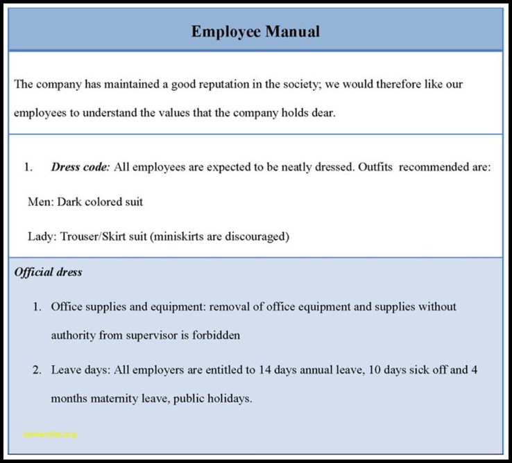Employee Handbook Template South Africa