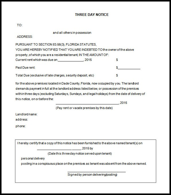 Eviction Notice Template Canada