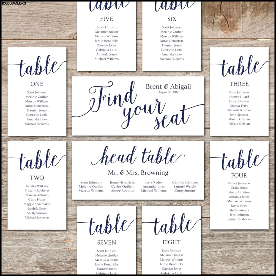 Wedding Seating Chart Ideas Templates
