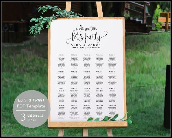 Wedding Seating Chart Template Free Download