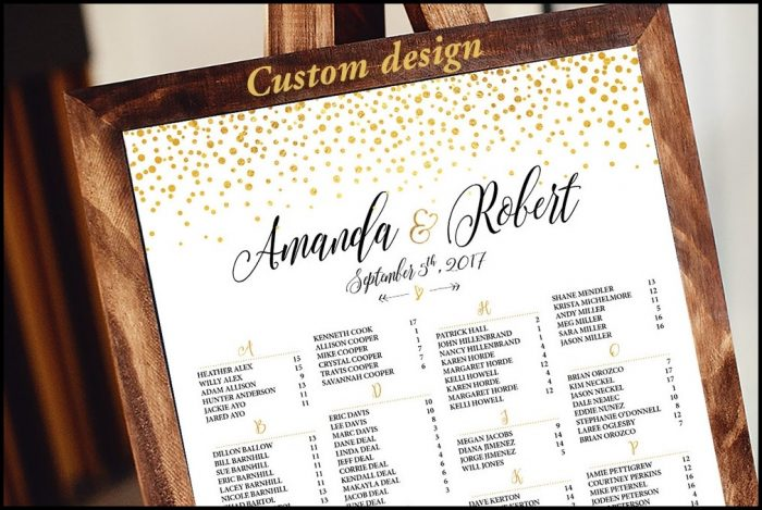 Wedding Seating Chart Template Poster