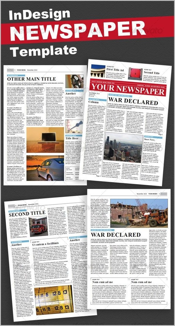 4 Page Newsletter Template Indesign