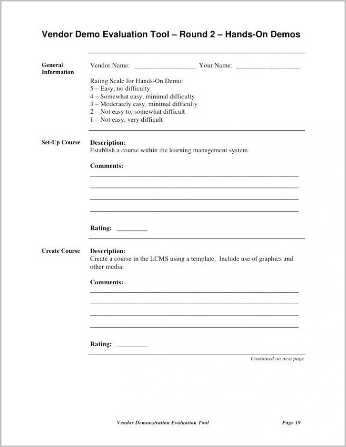 Ach Vendor Form Template