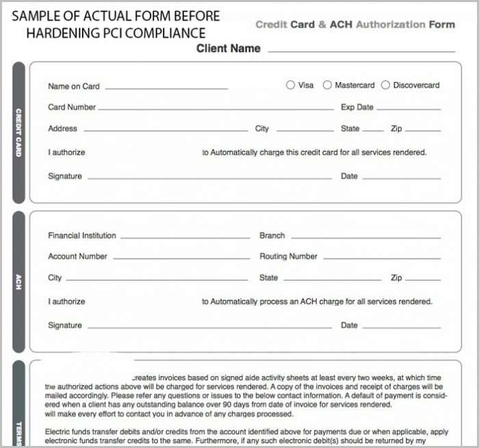 Ach Vendor Payment Form Template