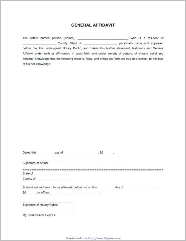 Affidavit Template Word South Africa