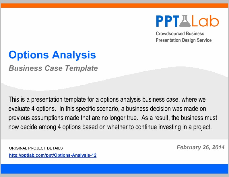 Business Case Analysis Template Ppt