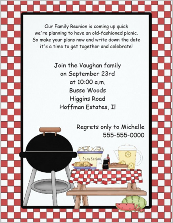 Company Picnic Invitation Template Free