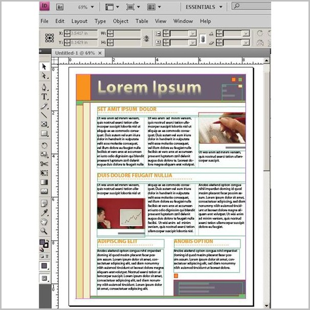 Creating A Newsletter Template In Indesign