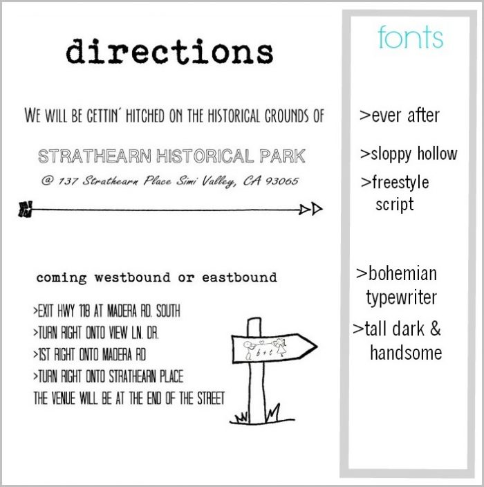 Directions To Wedding Reception Template