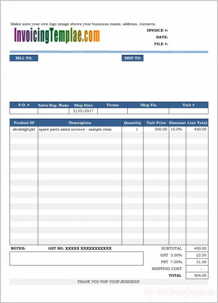 Electrical Contractor Invoice Template Free