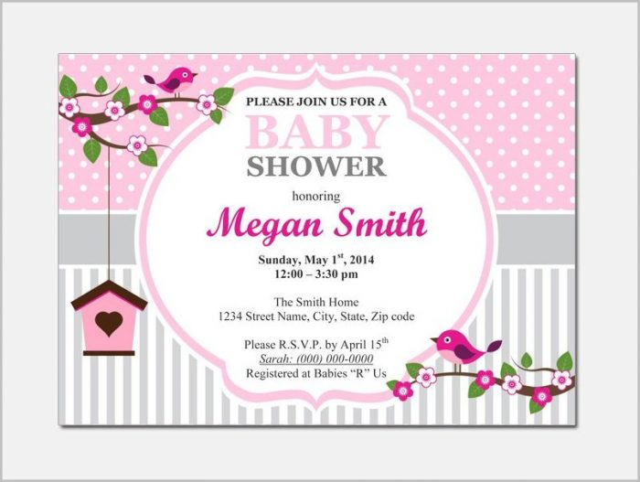 Free Baby Shower Invitation Template Microsoft Word