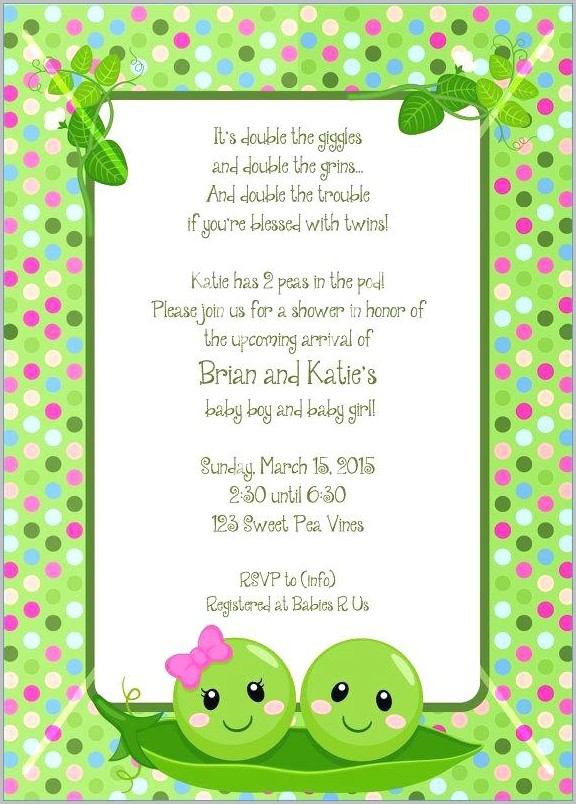 Free Baby Shower Invitation Templates For Twins