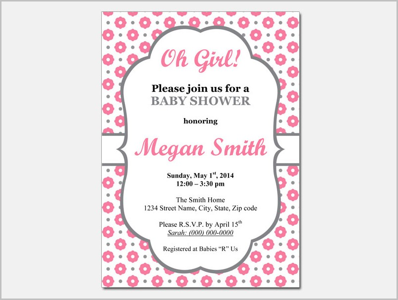 Free Baby Shower Invitation Templates Girlb