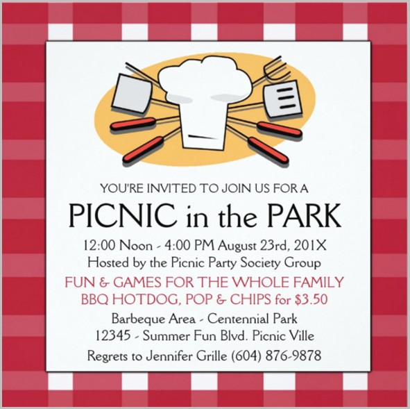 Free Editable Picnic Invitation Template