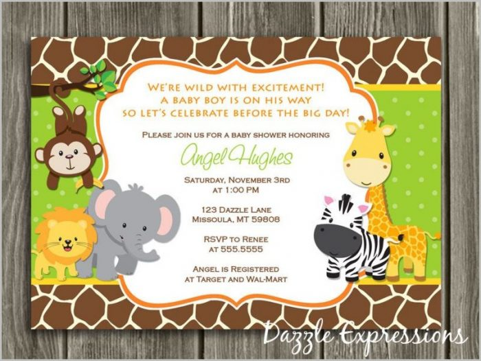 Free Jungle Baby Shower Invitation Templates