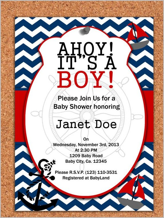 Free Nautical Baby Shower Invitation Templates