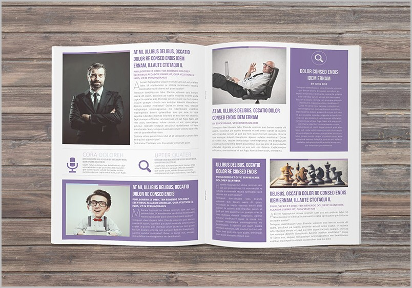 Newsletter Template For Indesign