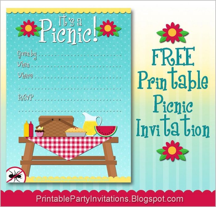Picnic Invitation Template Free