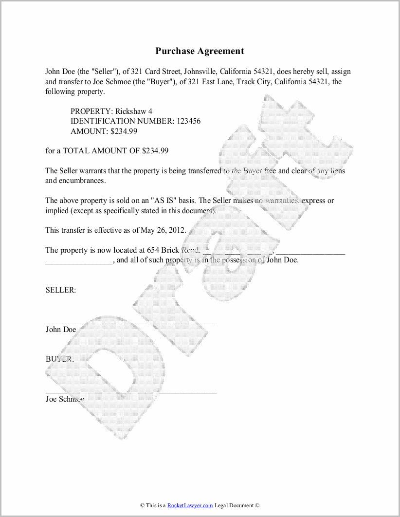 Resale Contract Template