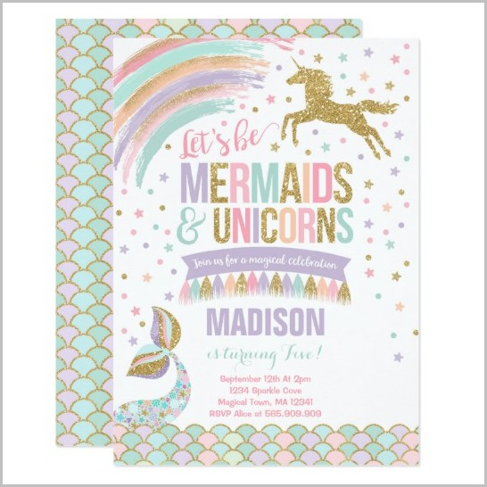 Unicorn Baby Shower Invitation Template Free