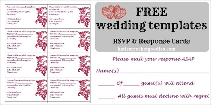 Wedding Reception Card Template Free