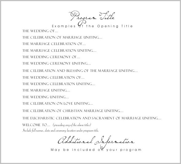 Wedding Reception Template