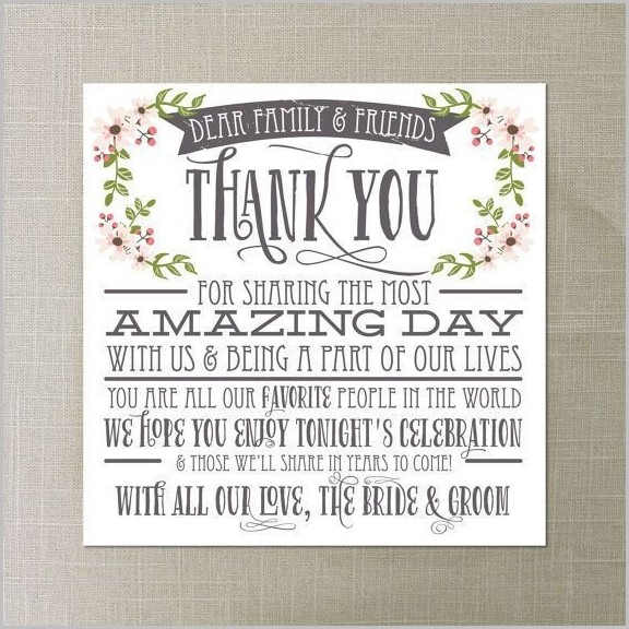 Wedding Reception Thank You Card Template