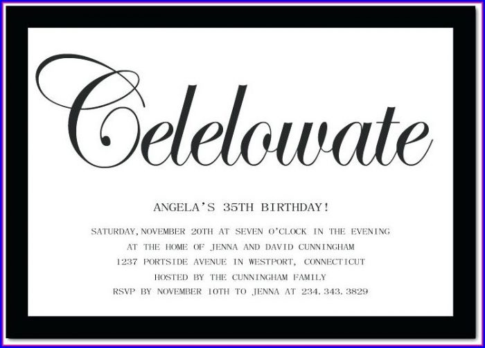 Free 35th Birthday Invitation Templates