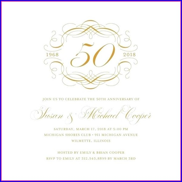 Free Invitation Templates 50th Wedding Anniversary
