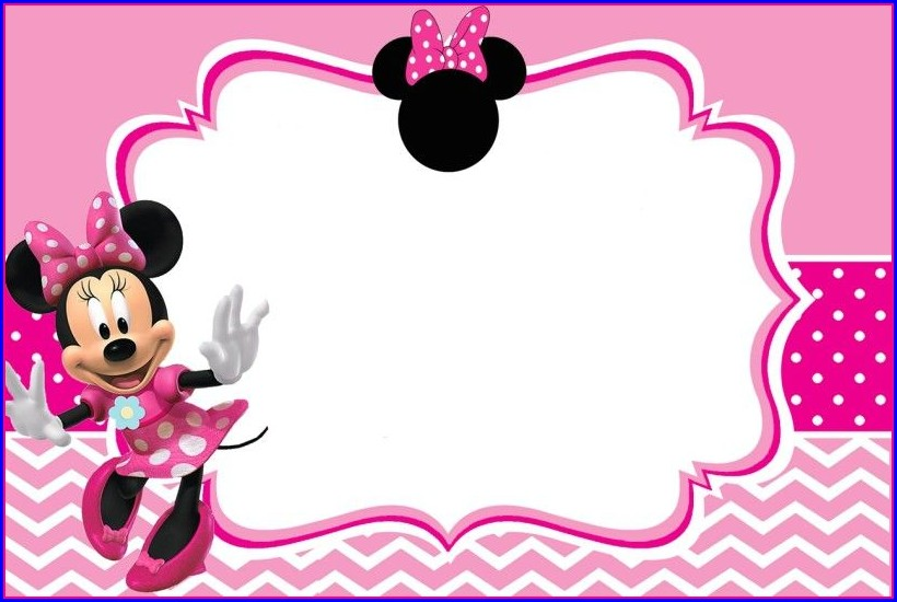 Free Invitation Templates Minnie Mouse