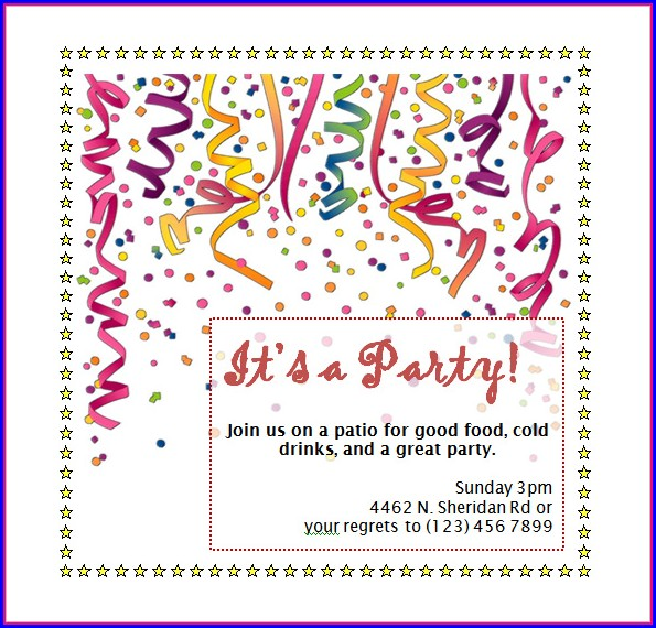 Free Invitation Templates Word