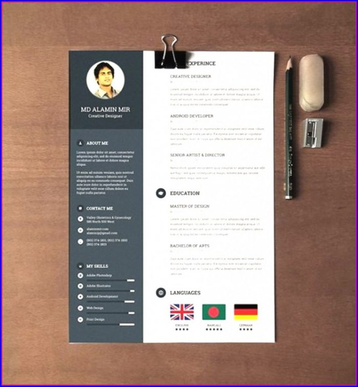 Free Modern Resume Templates For Word Download
