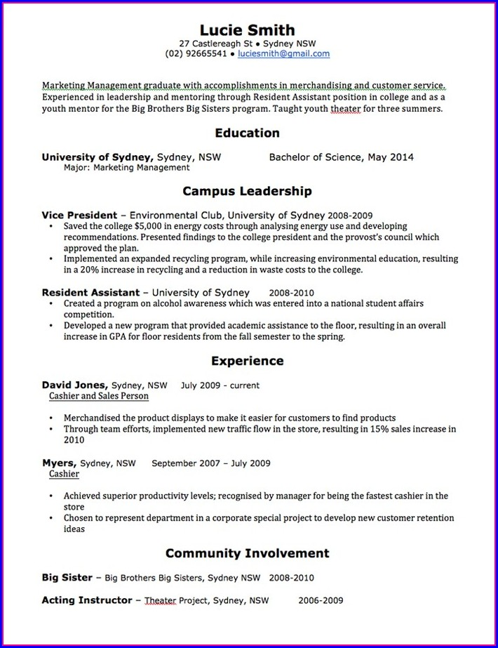 Free Resume Templates Word Doc