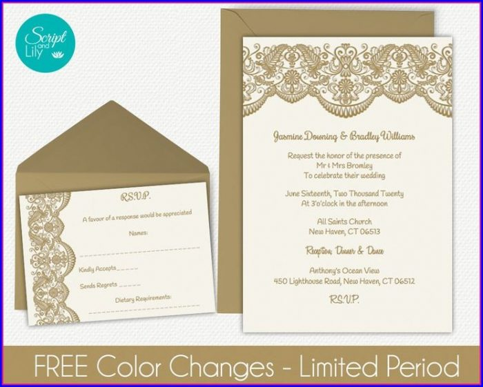 Free Wedding Invitation Templates 5.5 X 8.5