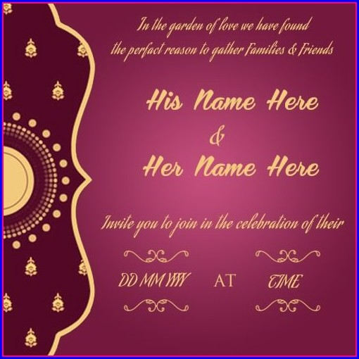 Free Wedding Invitation Templates Indian