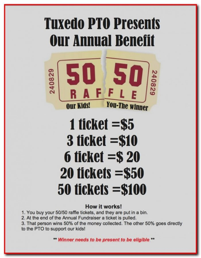 50 50 Raffle Ticket Template Free