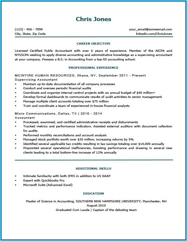A Basic Resume Template